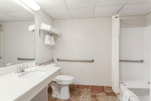 ADA accessible bathroom at Days Inn and Suites Wildwood