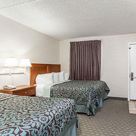 Two double beds in the oceanfront suite