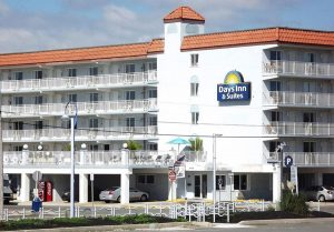 exterior of Days Inn and Suites Wildwood