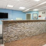 Front desk in lobby at Days Inn and Suites Wildwood